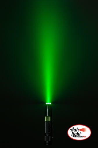 coherent green LED light for calming and healing