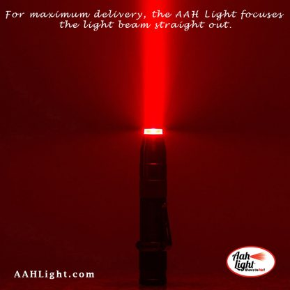 Red coherent LED light for increasing blood flow and healing